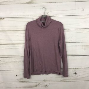 Madewell Light Purple Turtleneck Long Sleeve Top